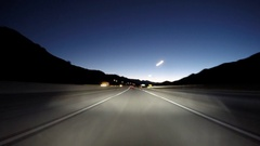 Freeway Predawn Driving Time Lapse in Los Angeles Stock Footage