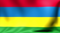 Mauritius Flag. Background Seamless Looping Animation. 4K High Definition Video Stock Footage