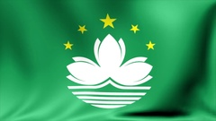 Macau Flag. Background Seamless Looping Animation. 4K High Definition Video Stock Footage