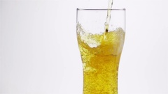 Light Beer is Poured into the Glass Stock Footage