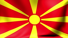 Macedonia Flag. Background Seamless Looping Animation. 4K High Definition Video Stock Footage