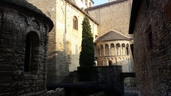 Bergamo - Old city. The bell tower and the dome of the Cathedral Stock Footage