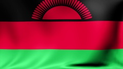 Malawi Flag. Background Seamless Looping Animation. 4K High Definition Video Stock Footage
