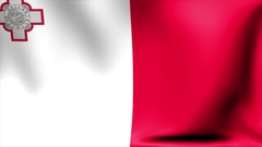 Malta Flag. Background Seamless Looping Animation. 4K High Definition Video Stock Footage