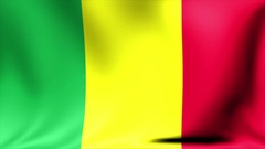 Mali Flag. Background Seamless Looping Animation. 4K High Definition Video Stock Footage
