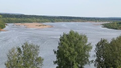 River Vyatka, Russia summer Stock Footage