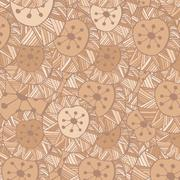 Hand drawn ornamental pattern with circle and lines Stock Illustration