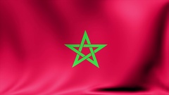 Morocco Flag. Background Seamless Looping Animation. 4K High Definition Video Stock Footage