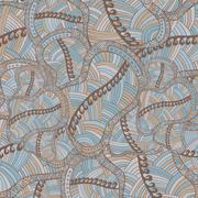 Vintage wave line and curl Stock Illustration
