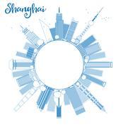 Shanghai circle cloud outline Piirros