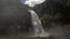 Cascada Magica (Magic Waterfall) in slow motion Stock Footage