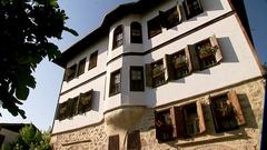 Safranbolu House Low Angle Stock Footage
