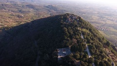 Aerial shot of beautiful little italian small village. Stock Footage