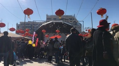 Crowded Chinese New Year Event Stock Footage