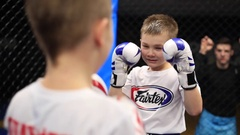 Kid's hit on the face Stock Footage