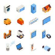 Smart Home  Technology Isometric Icons Collection Stock Illustration