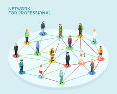 Network Professional Isometric Concept Stock Illustration