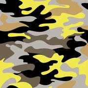 Camouflage pattern background seamless clothing print, repeatable Stock Illustration