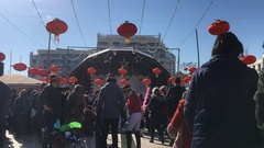 Crowd In Chinese New Year Event Stock Footage