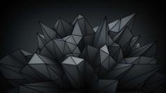 Polygonal black surface in studio seamles loop 3D render 4k UHD (3840x2160) Stock Footage