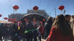 Chinese New Year Event With Many People Stock Footage