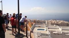 View of coast, Atlantic ocean and los gigantes in Tenerife Stock Footage