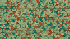 Multicolor chaotic extruded triangles 3D render loopable 4k UHD (3840x2160) Stock Footage
