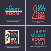 The logo for the quest room. Stock Illustration