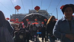 New Year Celebration Chinese Party Chinatown Stock Footage