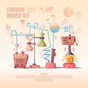 Business infographics on the topic of ideas and profit. Stock Illustration