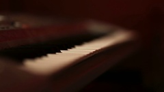 Musician hands on piano keyboard Stock Footage