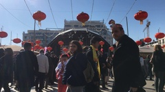 Chinatown Crowded Event Chinese New Year Stock Footage