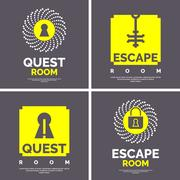 The emblem for the quest room. Stock Illustration