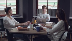 Funny meeting in the office Stock Footage
