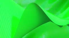 Background of mesh waves green with soft edges Stock Footage