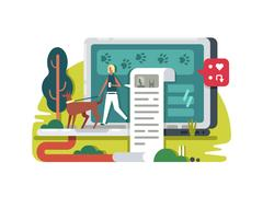 Blogging about life in internet Stock Illustration