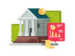 Bank and banking finance icon Stock Illustration