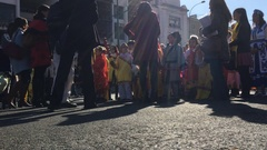 Chinese New Year Children Parade Stock Footage