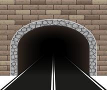 Automobile tunnel illustration Stock Illustration