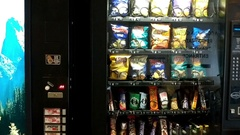 Vending machines in a hospital Stock Footage