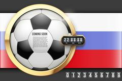 Football Coming Soon and countdown timer. Stock Illustration