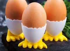Boiled chicken eggs Stock Photos