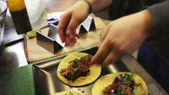 Cooking mexican tacos Stock Footage