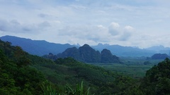 Khao Sok National Park in Thailand, zoom timelapse Stock Footage