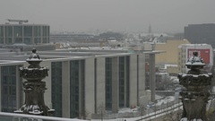 Germany, Berlin, View from the roof of the Reichstag, January 9, 2017 Stock Footage