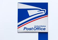 United States Postal Service Sign and Logo. Stock Photos