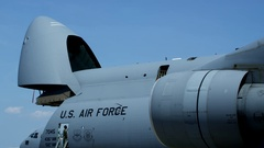 American Military Airplane Stock Footage