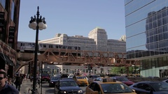 Subway in City, metra train Stock Footage