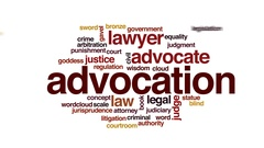 Advocation animated word cloud, text design animation. Stock Footage