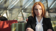 Bussiness woman and her thoughts Stock Footage